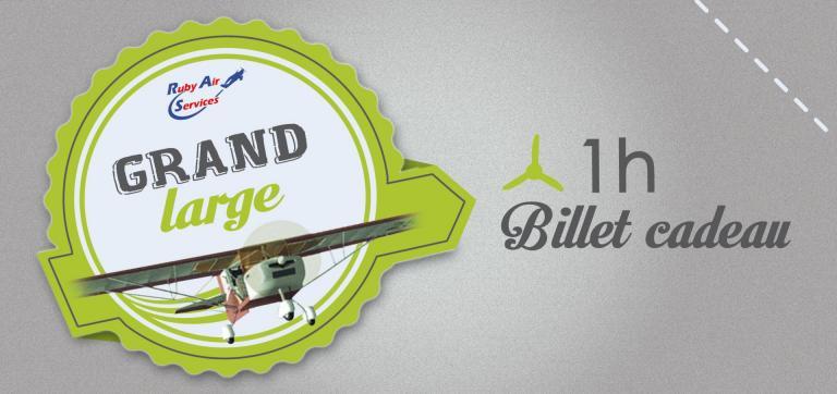 """Billets Cadeau pour un vol """"Grand Large"""" de 60' en ULM."""