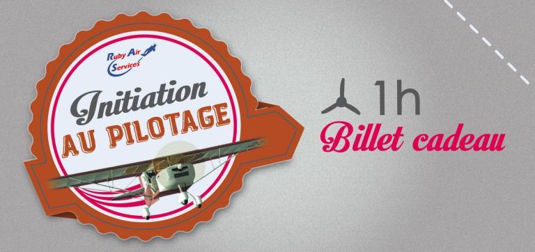 """Billets Cadeau pour un """"Vol d'initiation au pilotage"""" 1H en ULM."""