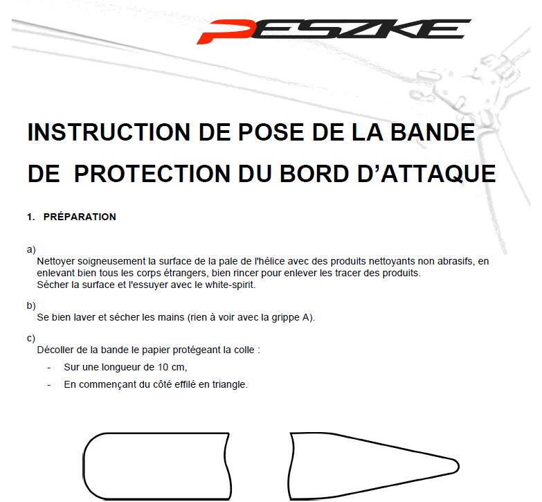 Instruction de pose de la bande de protection debut
