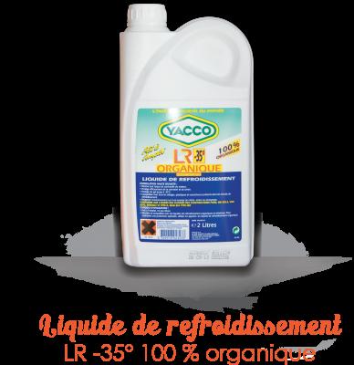 Liquide de refroidissement YACCO 2L LR ORGANIQUE (orange)