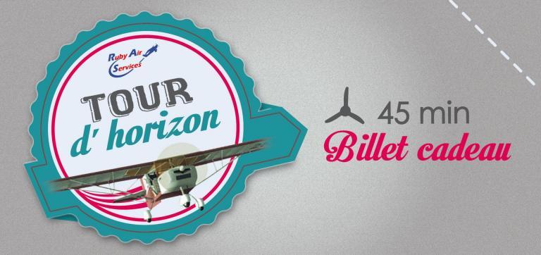 """Billets Cadeau pour un vol """"Tour d'Horizon"""" de 45' en ULM."""