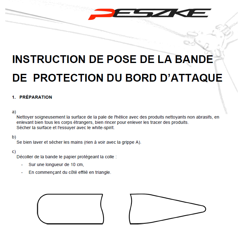Instruction de pose de la bande de protection debut